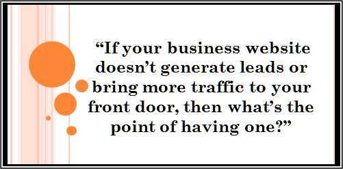 if your website doesnt generate leads