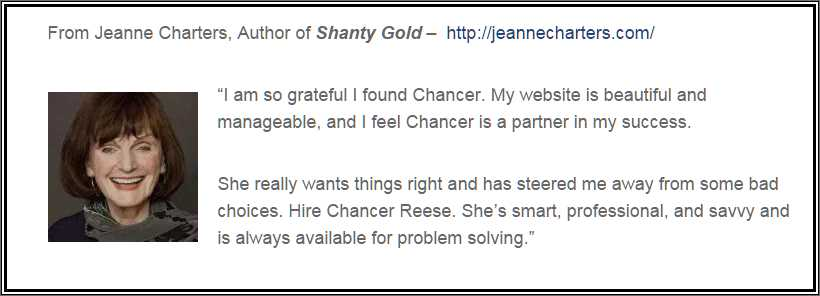 jeanne-charters-testimonial. Small Business Website Design - Asheville NC. Building websites that produce results, nothing less.